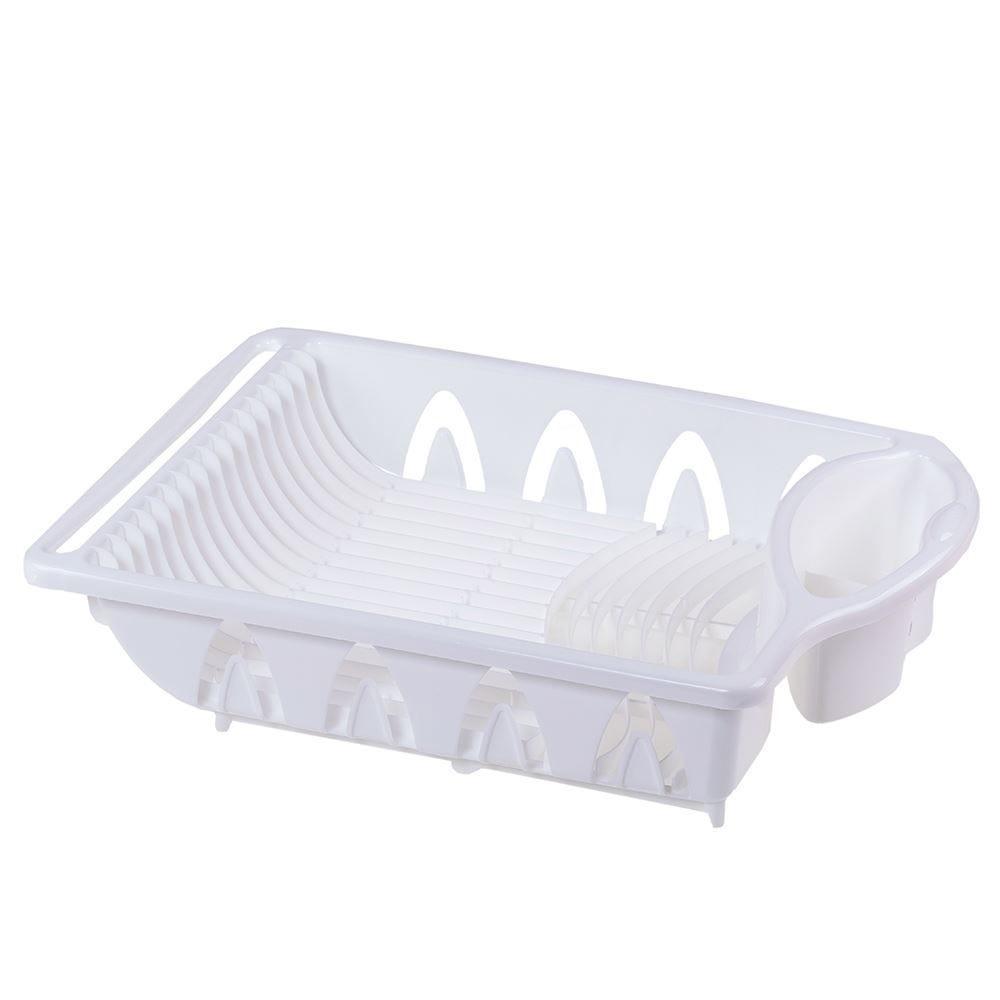 Escorredor De Plástico Para Louças E Talheres Plasútil - Branco