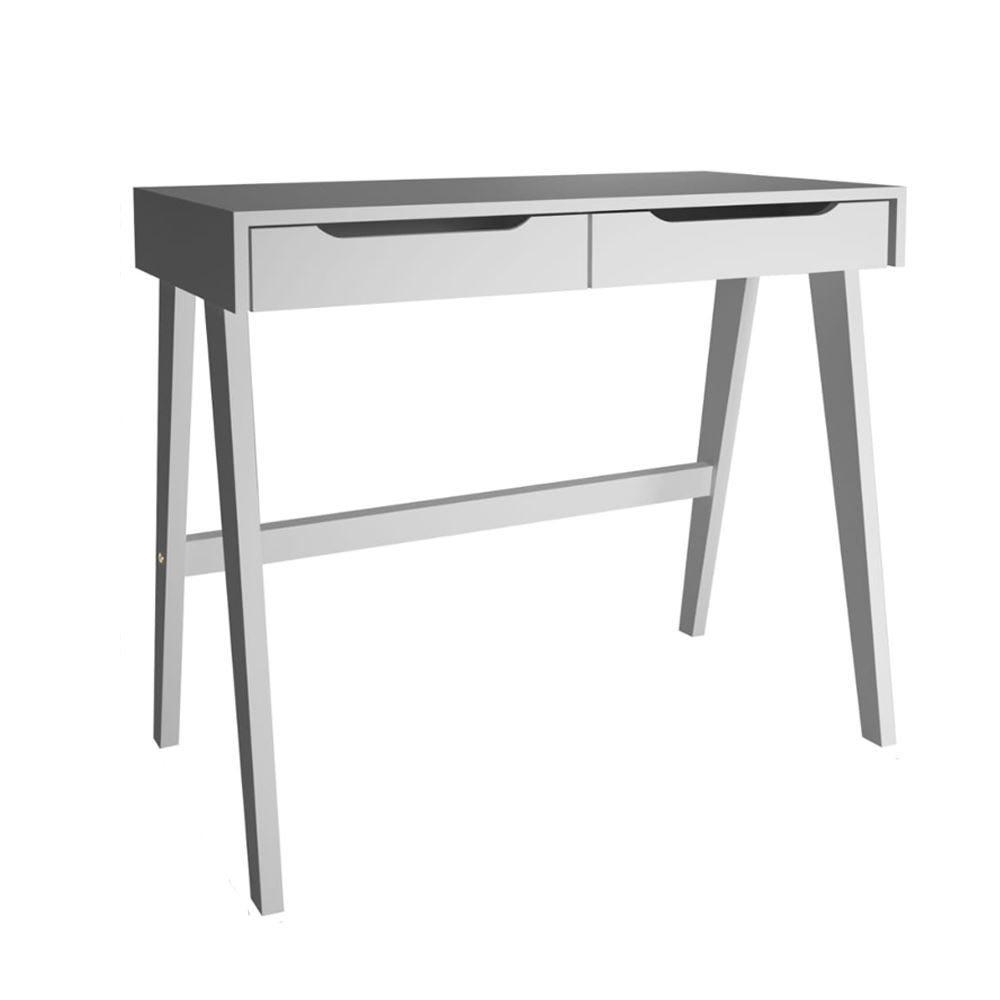 Escrivaninha Com 2 Gavetas 90X45cm Ferbatke - Branco