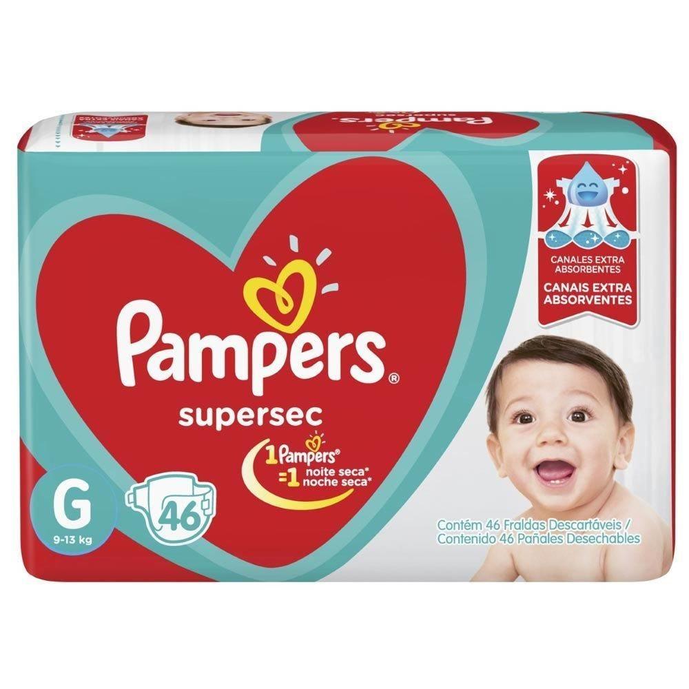 Fralda Pampers Super Sec Hiper Tam.G - 46 Unidades