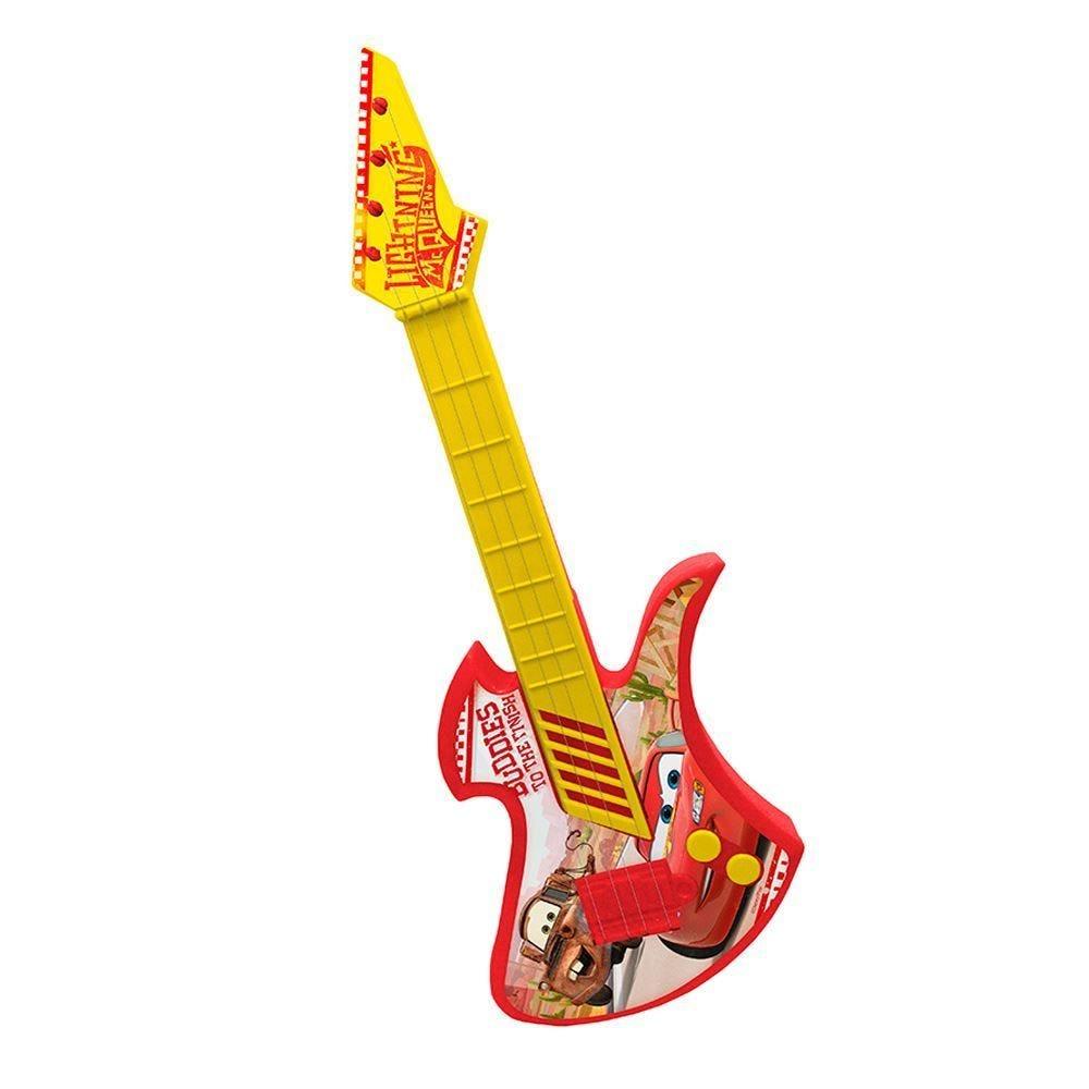 Guitarra a Corda Carros 42cm DY-073 Etitoys - Vermelho