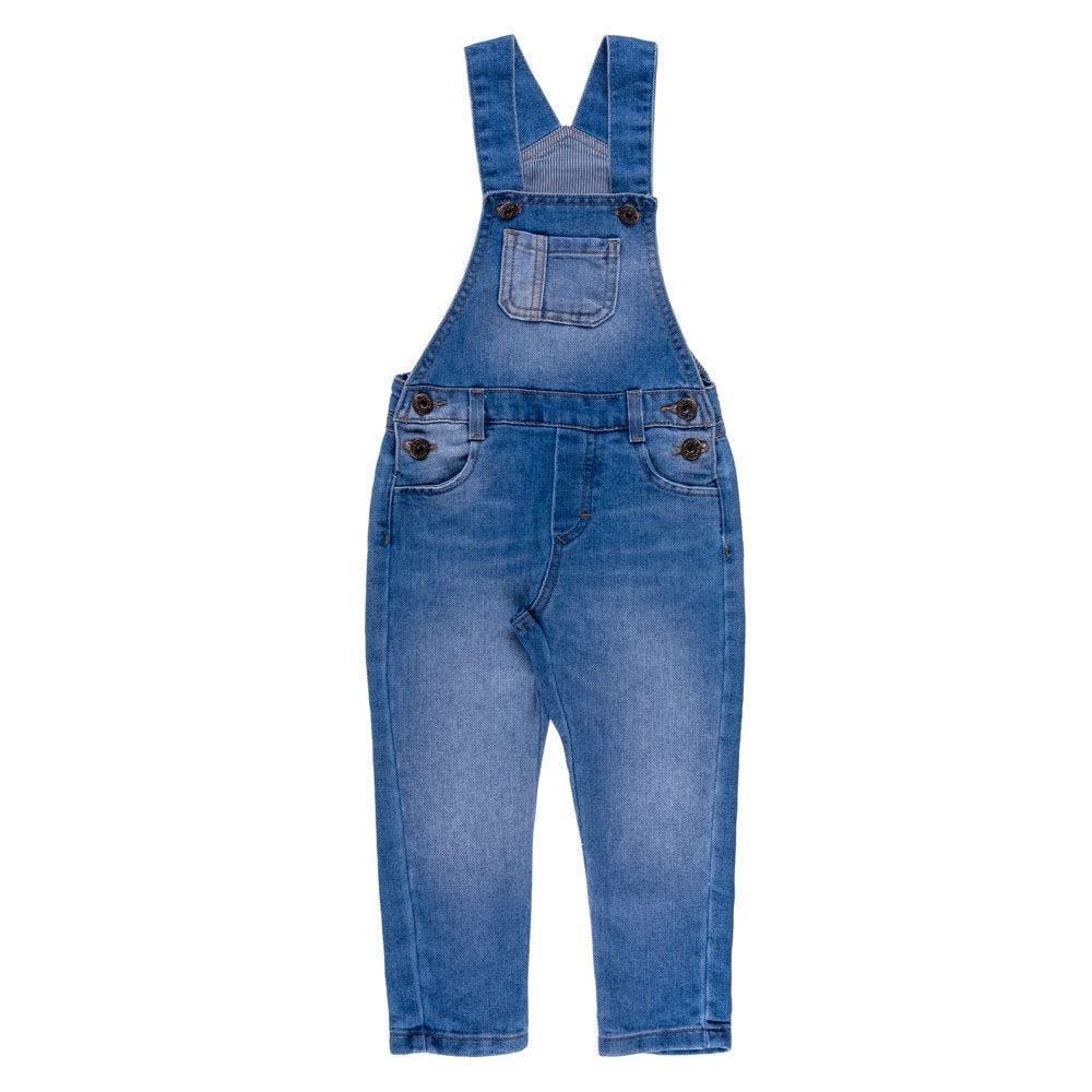 Jardineira de 1 a 3 Anos Jeans Yoyo Kids