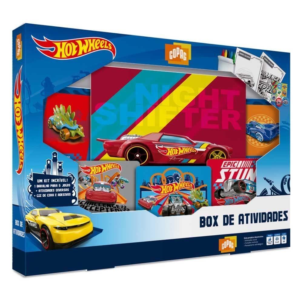Jogo Box De Atividades Hot Wheels Copag - 90946
