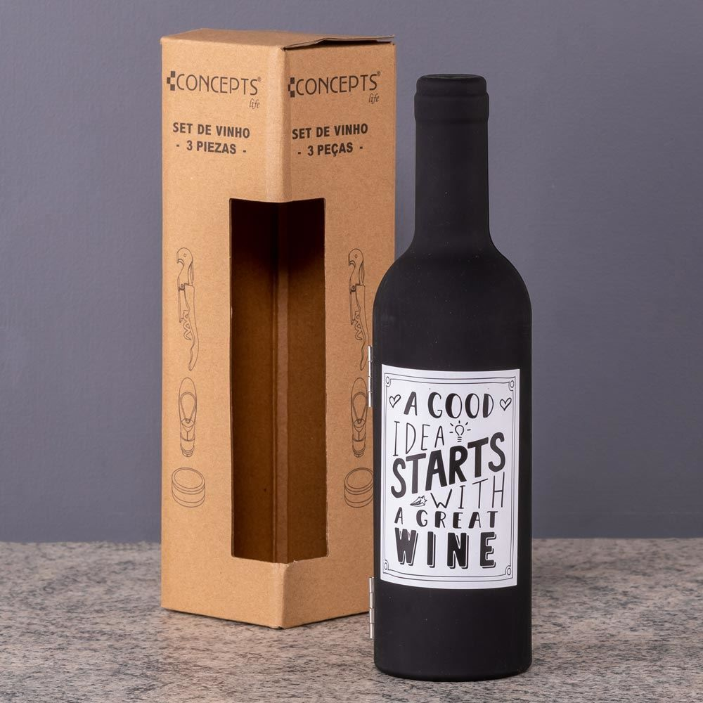 Jogo De 3 Acessórios Para Vinho Concepts Life - Good