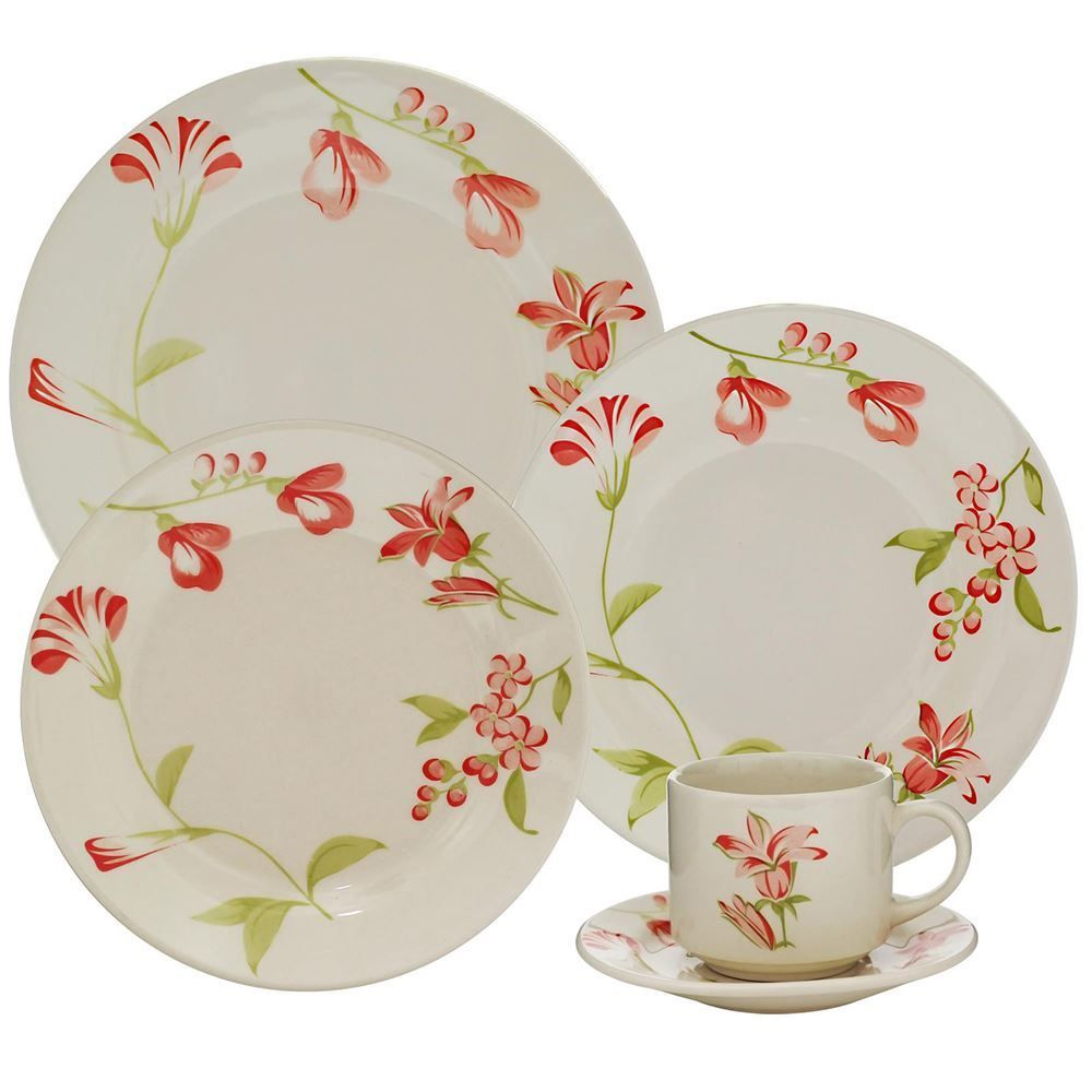 Aparelho De Jantar Oxford Donna Lia 20 Peças - Cerâmica