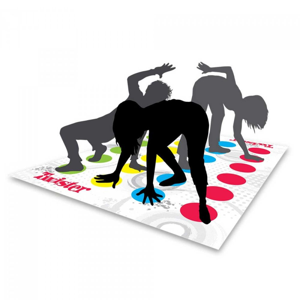 Jogo Twister Dance Refresh Clássico Colorido Hasbro - BRANCO