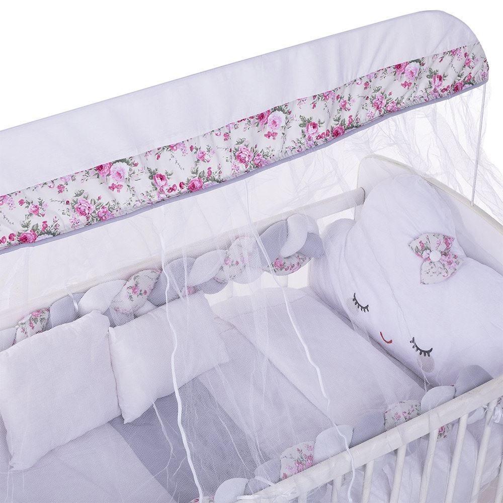 Kit Berço 9 Peças New Americano Yoyo Baby - Nuvem Floral