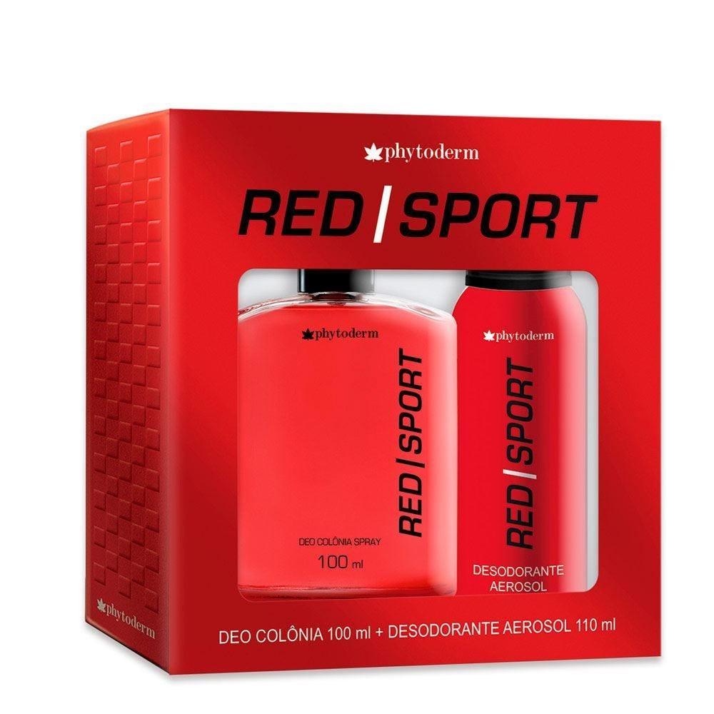 Kit Deo Colônia + Desodorante Red Sport Phytoderm - DIVERSOS