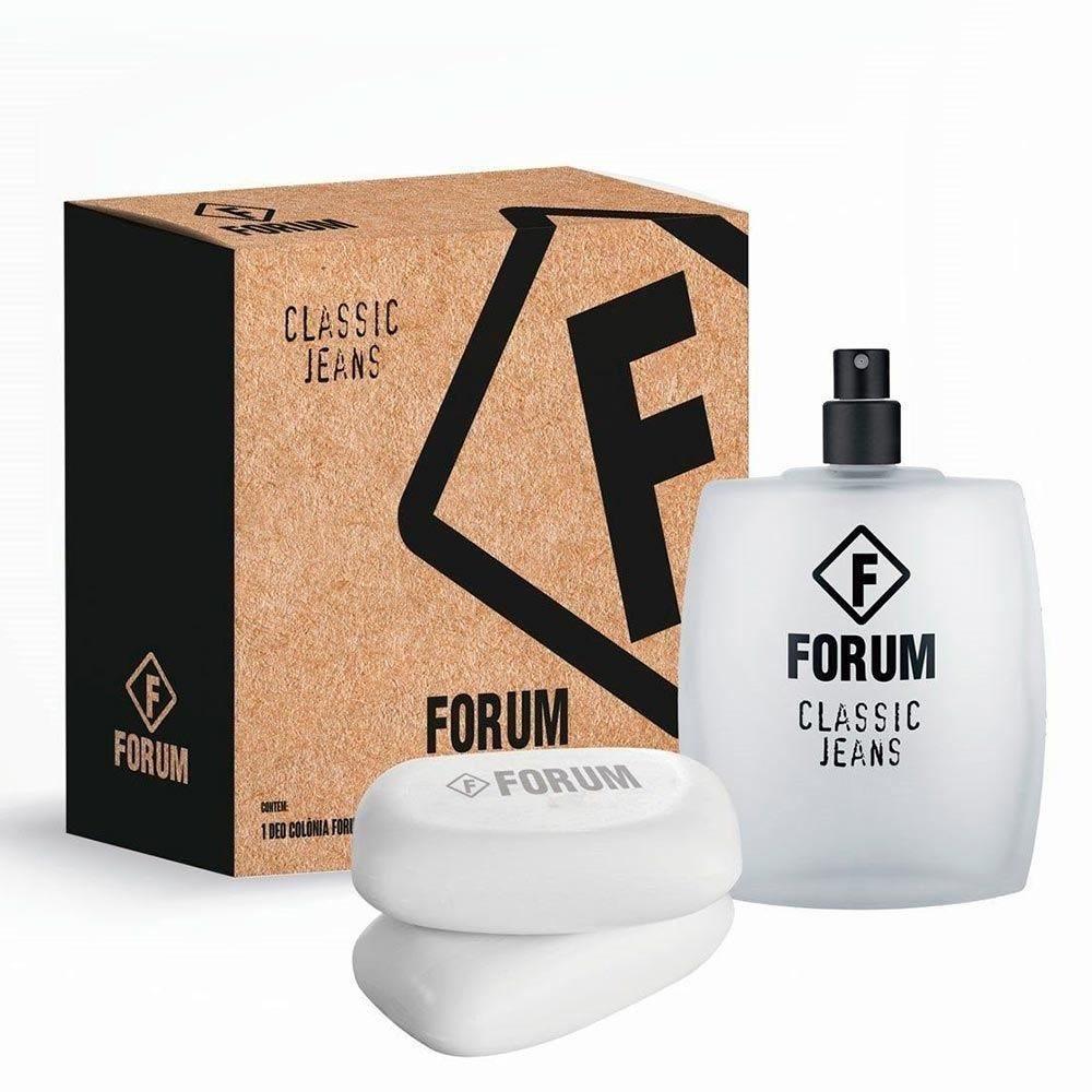 Kit Deo Colônia Forum Jeans + Sabonetes Forum - DIVERSOS