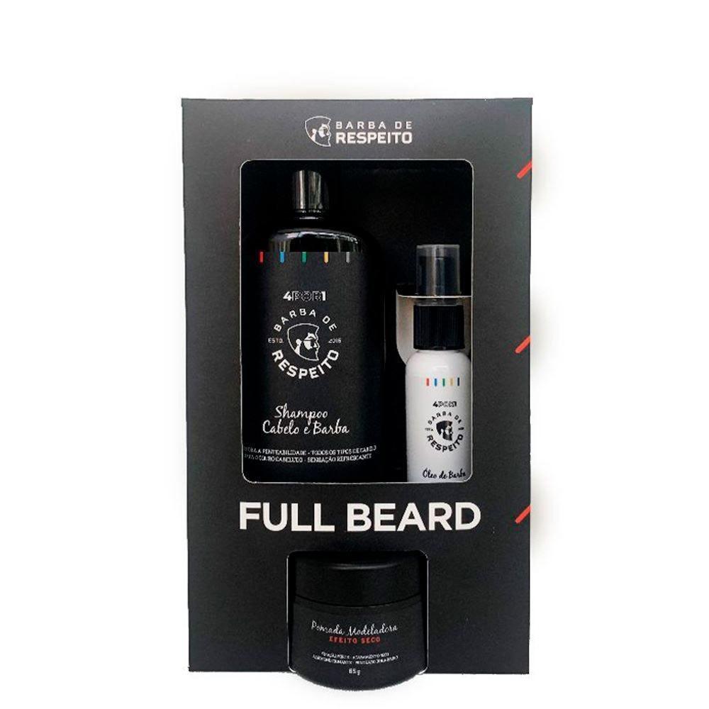 Kit Full Barba E Cabelo + Beard 4 Por 1 Barba De Respeito - DIVERSOS