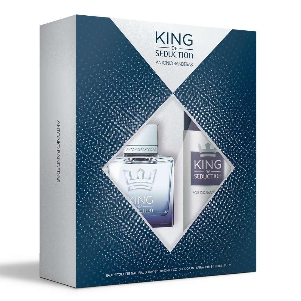 Kit King Of Seduction Perfume + Desodorante Antônio Banderas - DIVERSOS