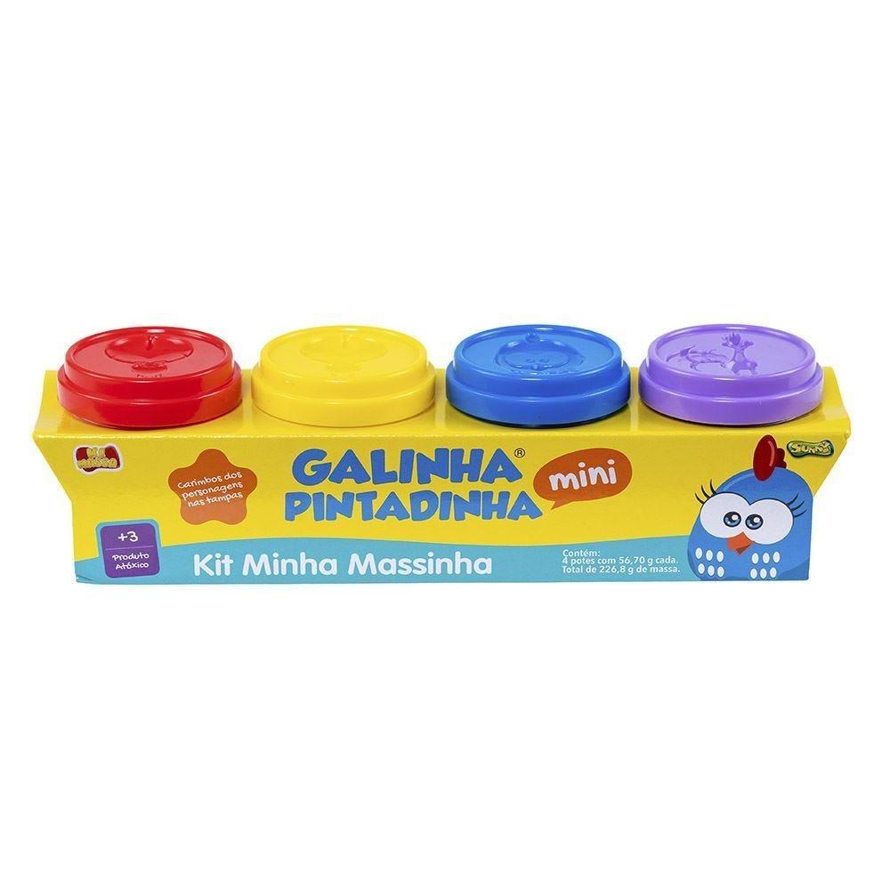 Kit Massinha Galinha Pintadinha 4 Potes Sunny - 1515