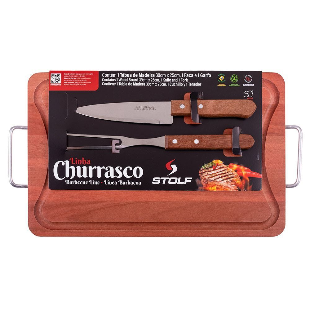 Kit Para Churrasco 3 Peças Stolf - 289