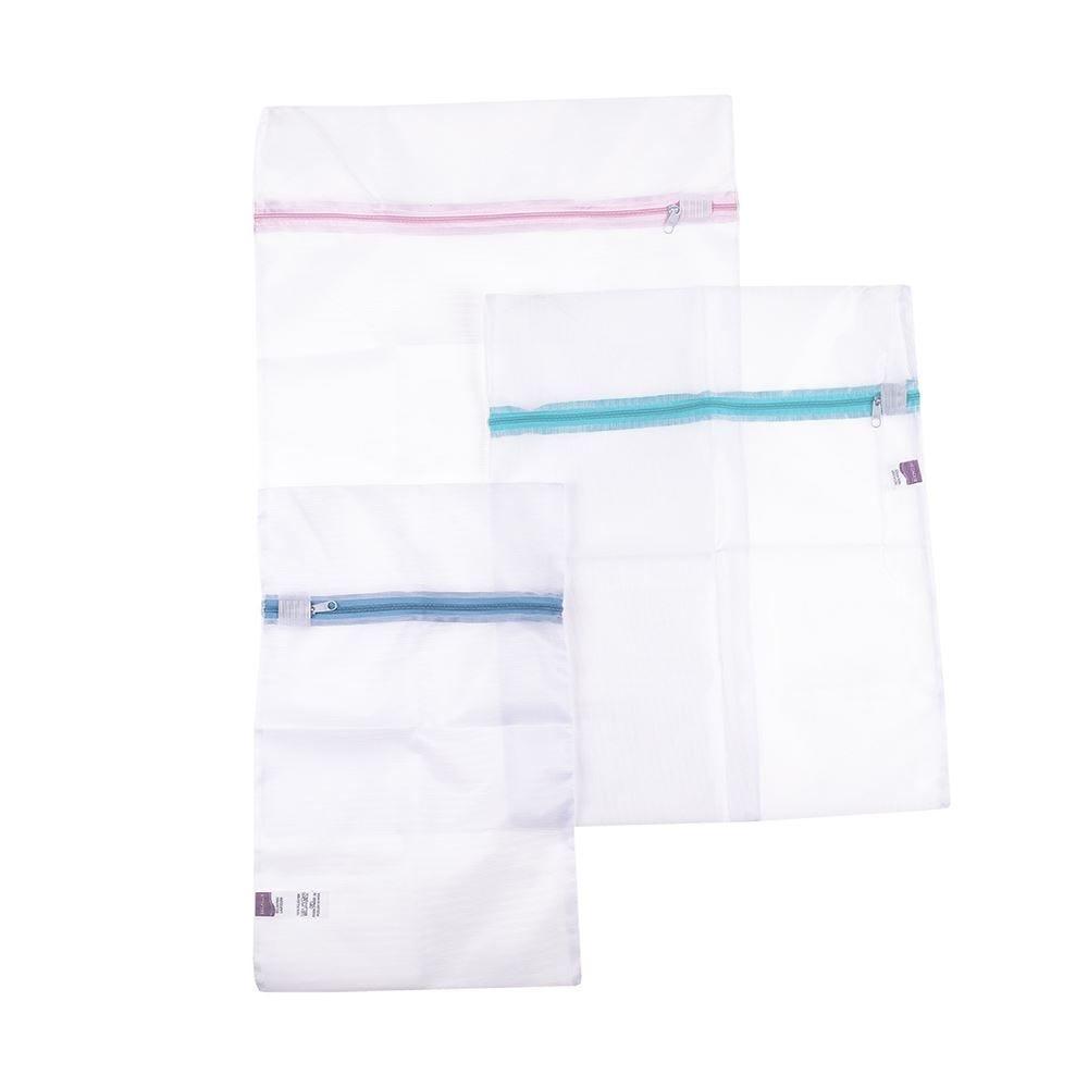 Kit Saco Para Lavar Secalux P/M/G 3 Peças - Transparente