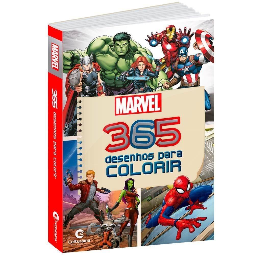 Livro 365 Desenhos Para Colorir Marvel - Culturama