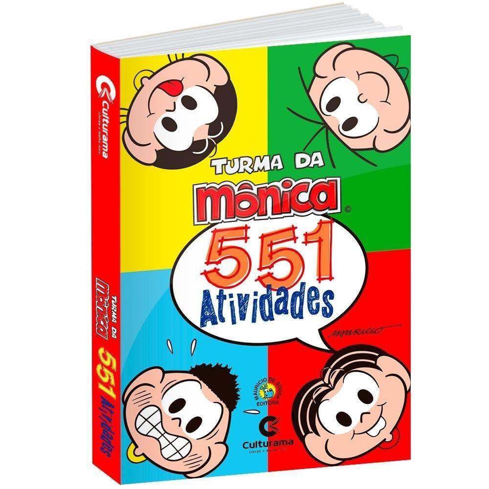 Livro 551 Atividades Turma Da Mônica - Culturama