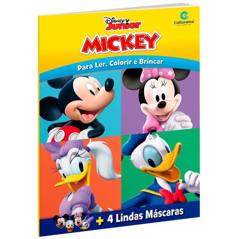 Livro De Máscaras Divertidas E Colorir Mickey - Culturama
