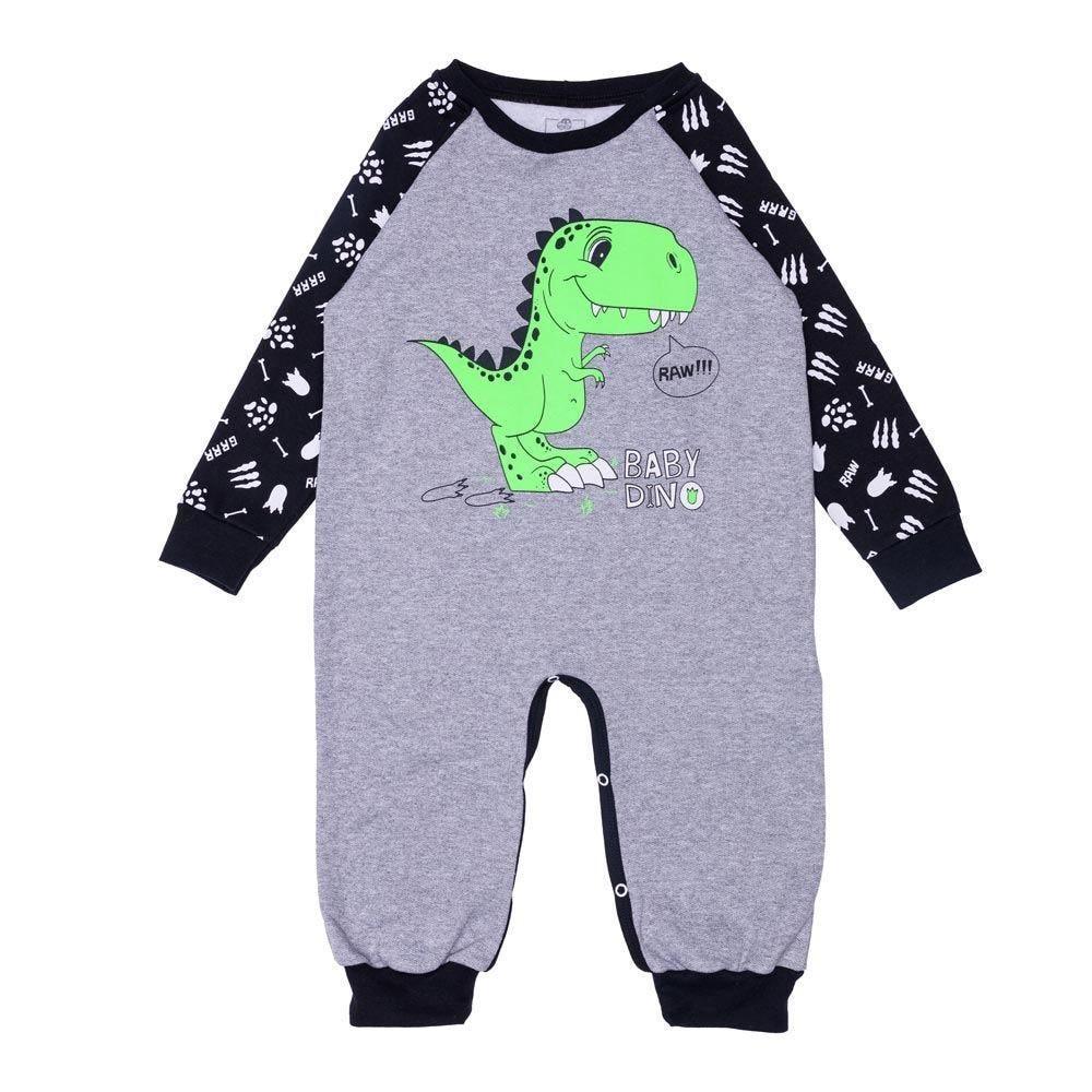 Macacão 1 a 3 anos Baby Dino Yoyo Kids