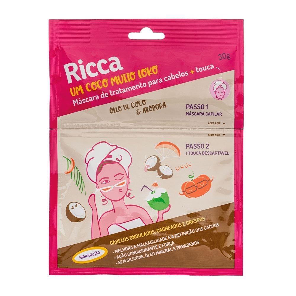 Máscara Capilar Hidratação Com Touca Ricca - 30g