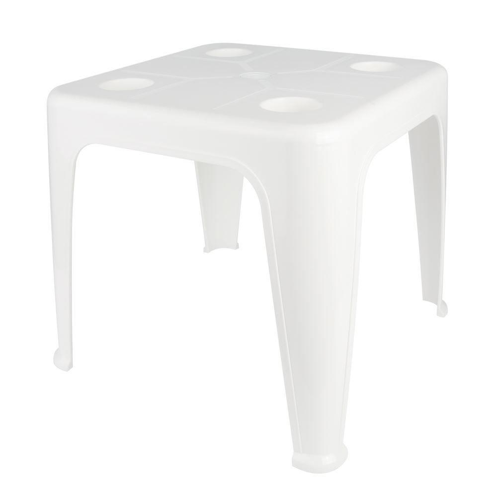 Mesa Plástica De Apoio Com Porta-Copos Mor - Branco