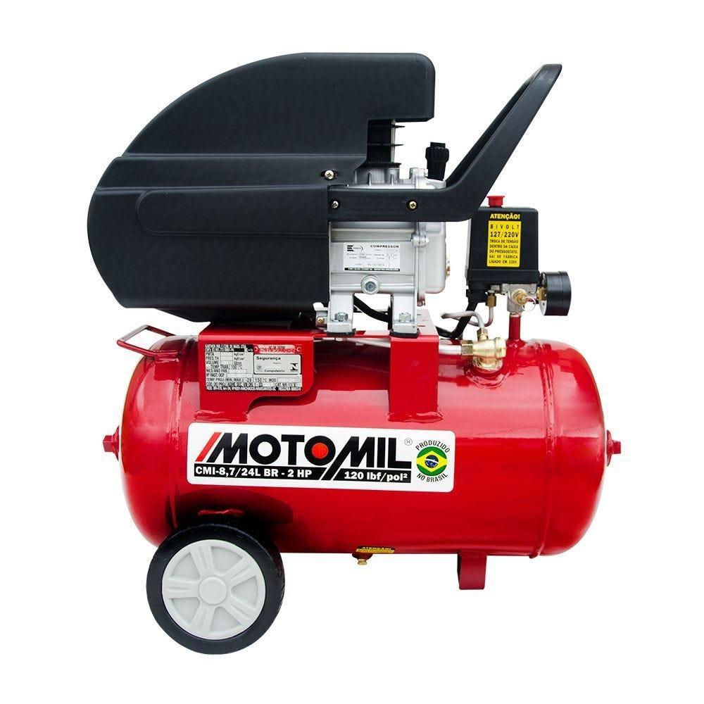 Motocompressor De Ar 24L Cmi-8,7/24 Motomil - Bivolt