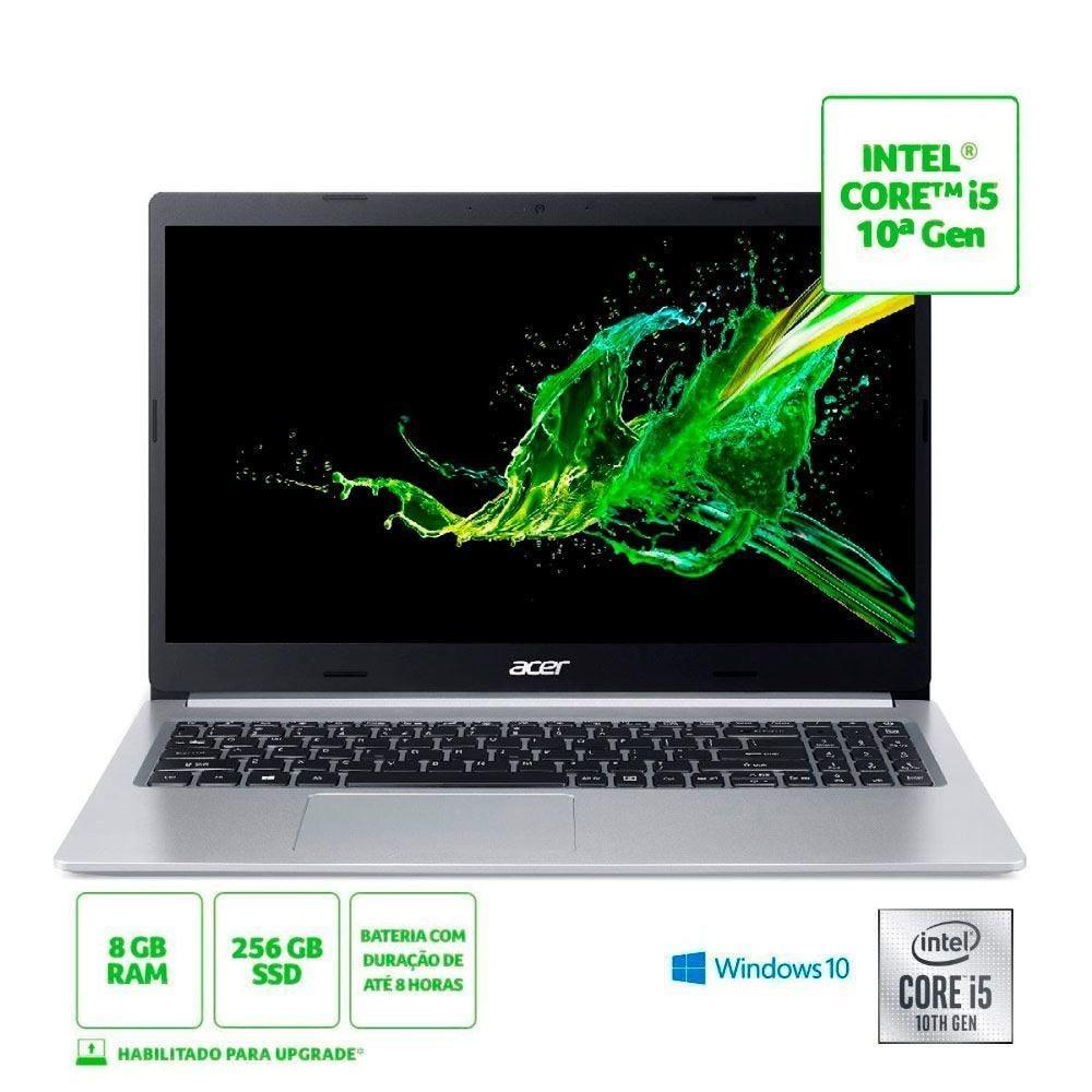 Notebook Aspire 5 I5/8Gb/256Gb De Ssd/Win10 15,6