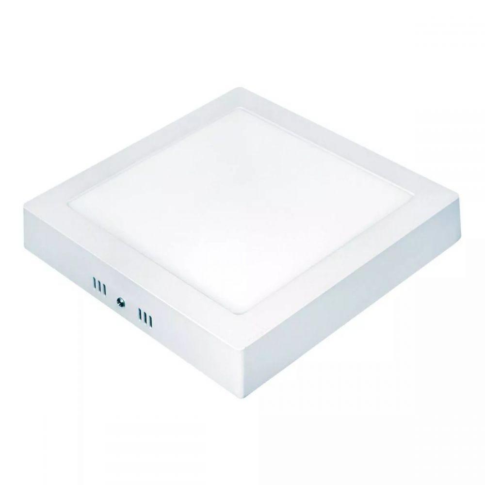 Painel LED 22cm Quadrado Sobrepor 18W 6500K Taschibra - Bivolt