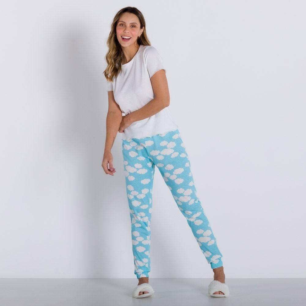 Pijama Longo Com Calça Jogger Holla
