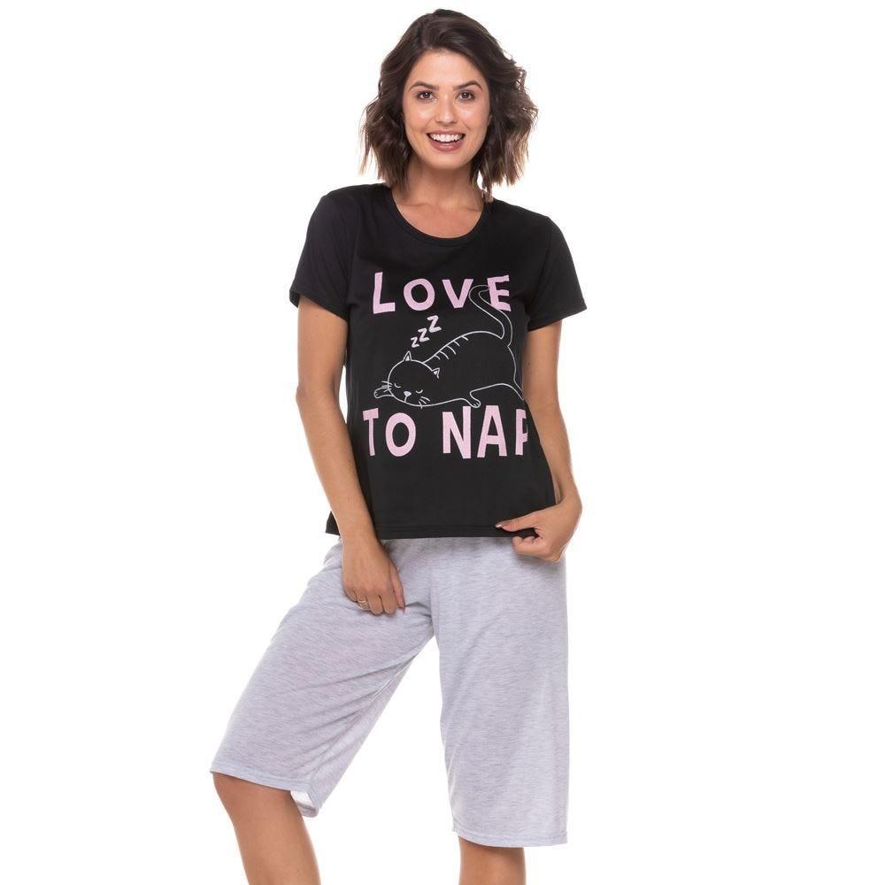 Pijama Meia Estação Love To Nap Holla