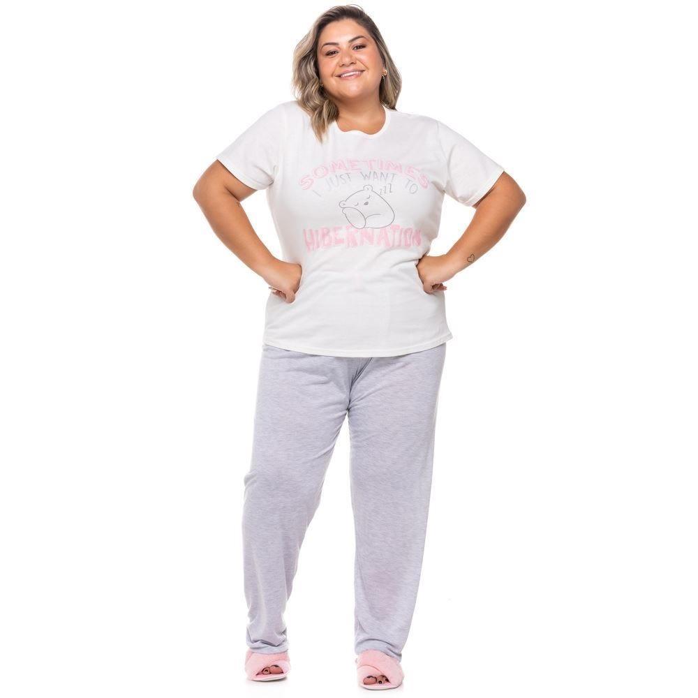 Pijama Meia Estação Plus Size Hibernation Holla