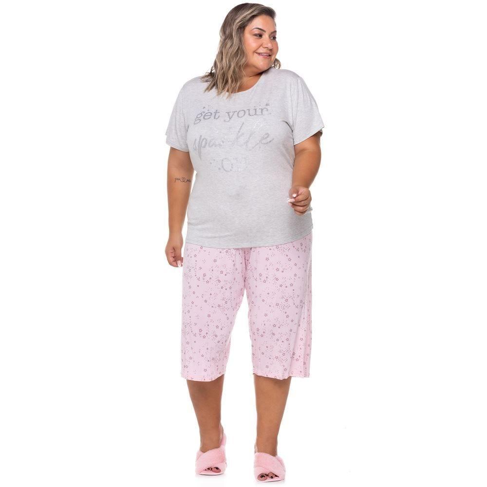 Pijama Meia Estação Sparkle Plus Size Holla