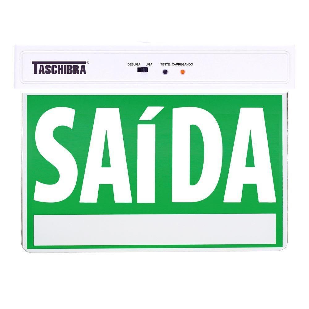 Placa De Sinalização De Saída Led Taschibra - Verde