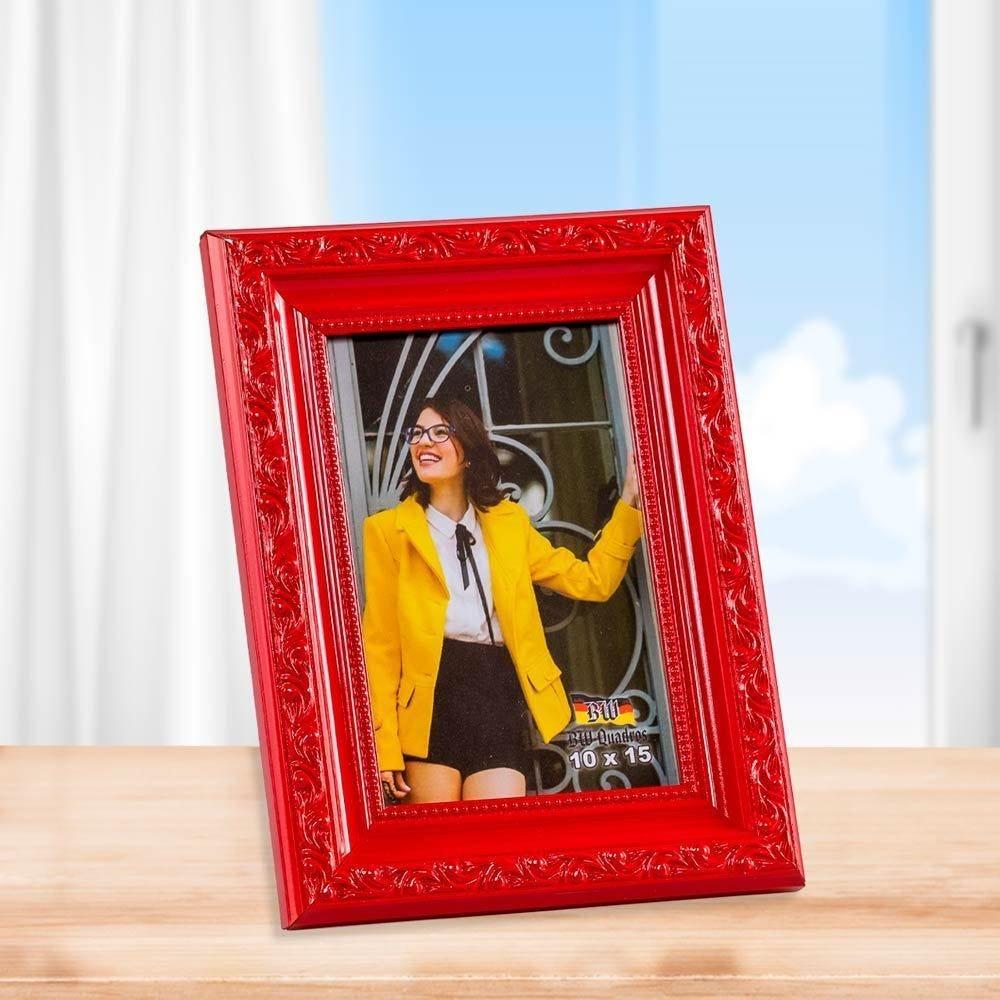 Porta Retrato 10cm x 15cm Buss - Vermelho