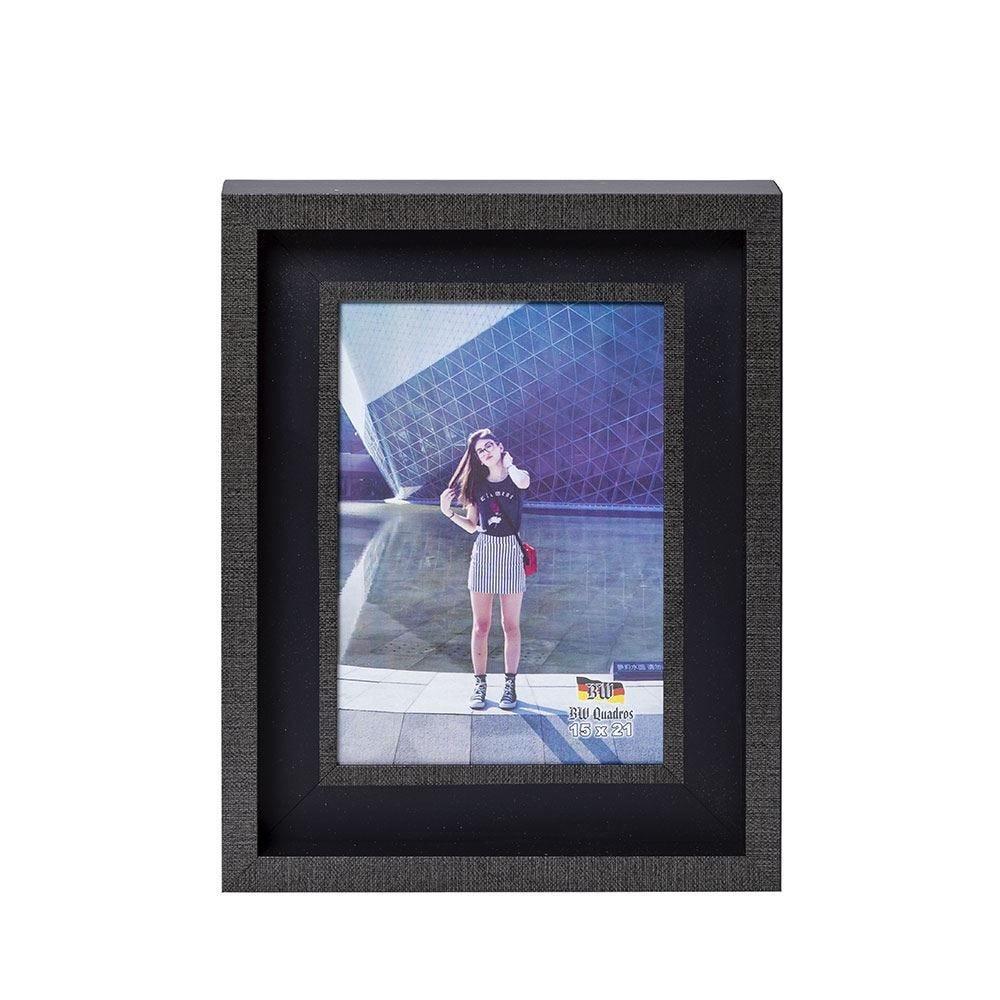 Porta Retrato 15X21cm Bw Quadros  - Preto