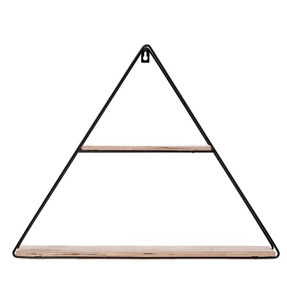 Prateleira De Parede Triangular Yaris - Preto