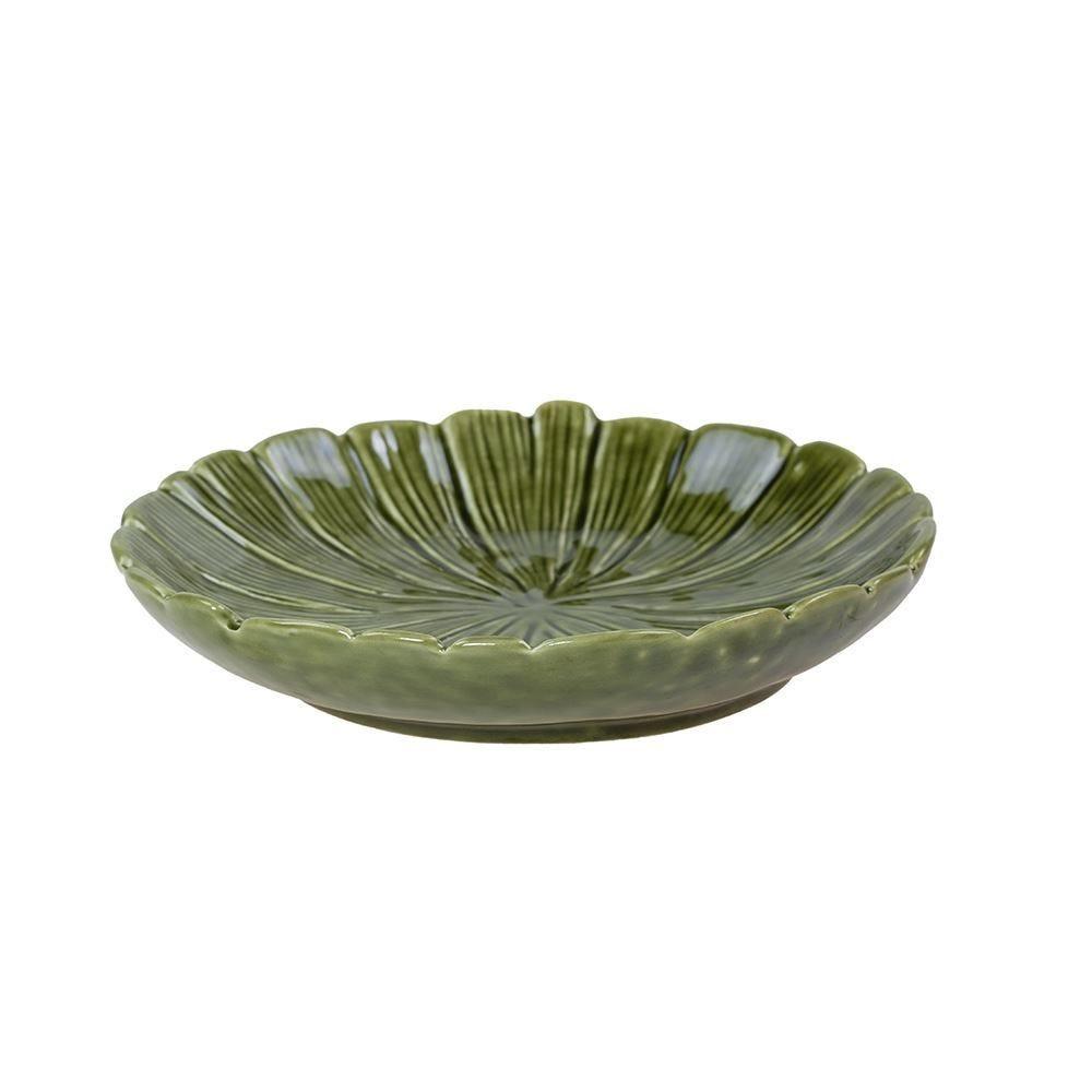 Prato Decorativo Banana Leaf 16X3cm Lyor - Verde
