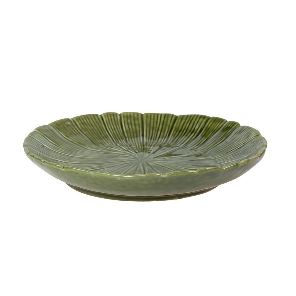 Prato Decorativo Banana Leaf 19,5X3cm Lyor - Verde