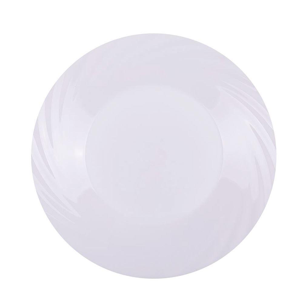 Prato Raso Jasmim Opaline 26Cm Duralex - Branco