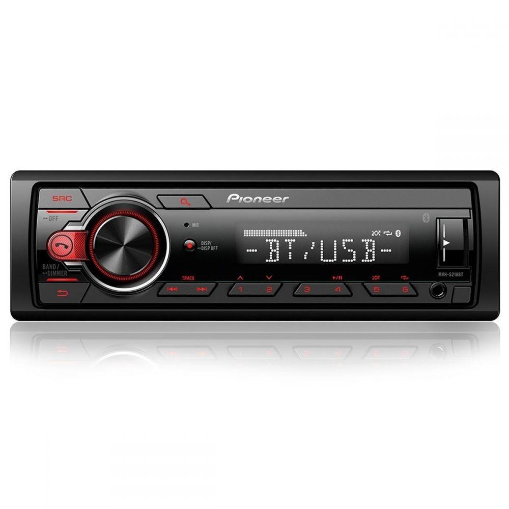 Rádio MP3 Player com Bluetooth MVH-S218BT Pioneer - 1 DIN