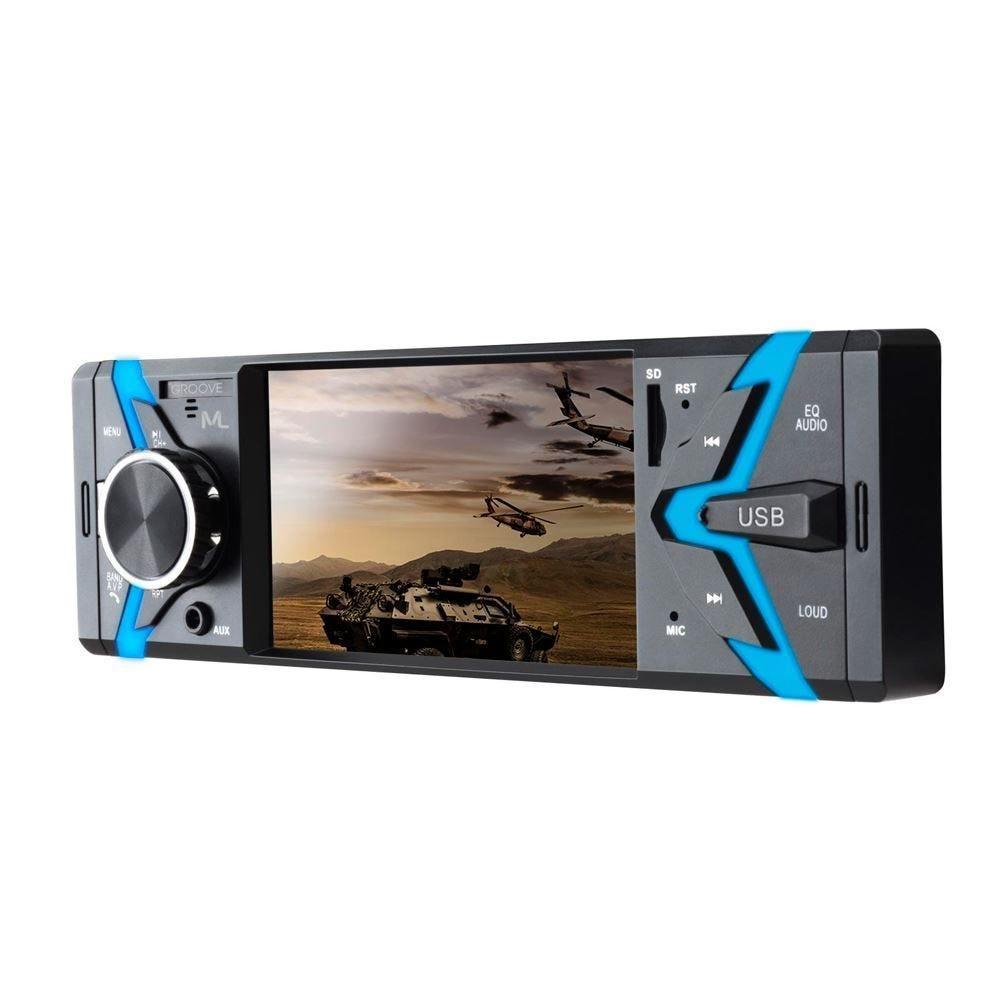 Rádio Mp5 Player Com Bluetooth Groove P3341 Multilaser - 1 DIN