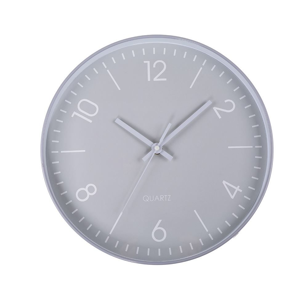 Relógio De Parede Redondo 30X4cm Solecasa - Cinza