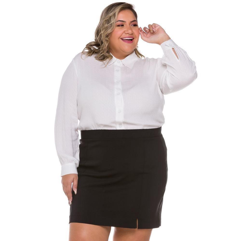 Saia Plus Size Curta Bengaline Patricia Foster Mais