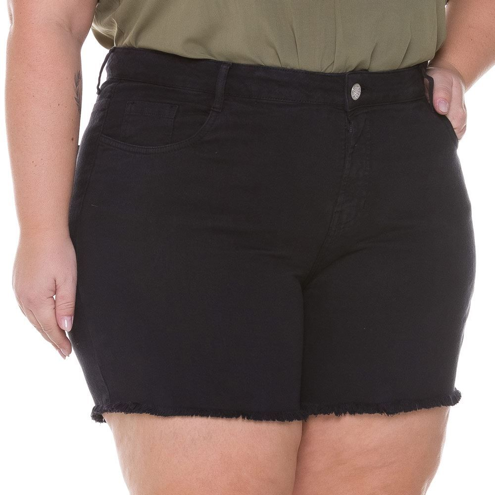 Short Sarja Lavado Feminino Plus Size Analola