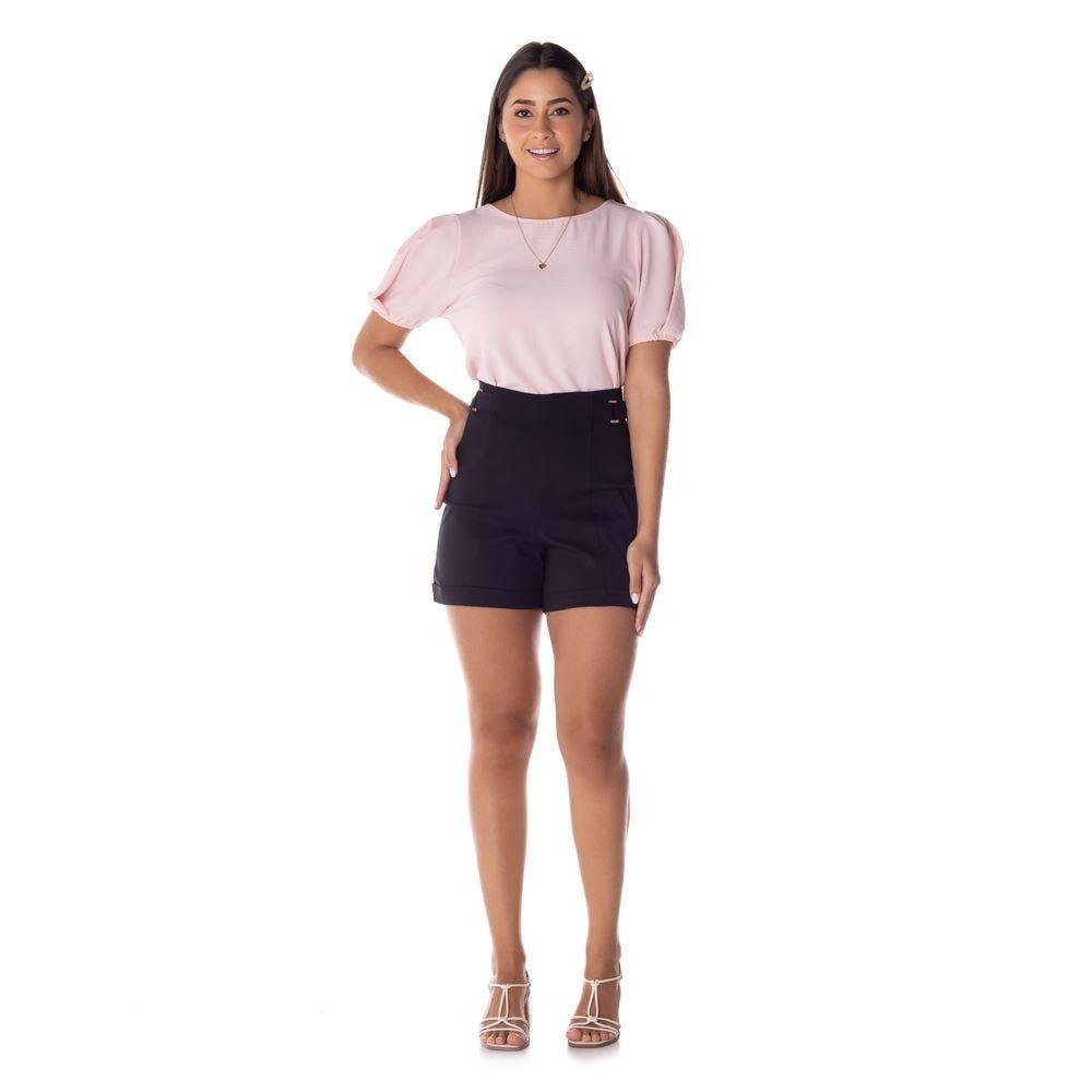 Shorts Bengaline com Recorte Patrícia Foster