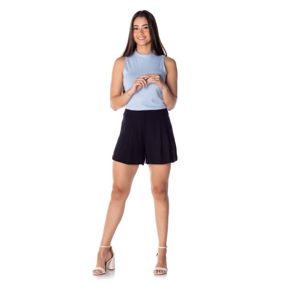Shorts com Pregas Patrícia Foster