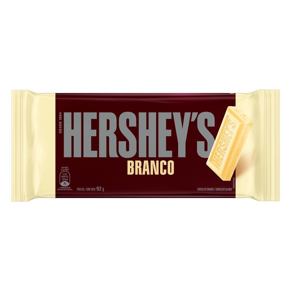 Tablete Hersheys De Chocolate Branco - 92g