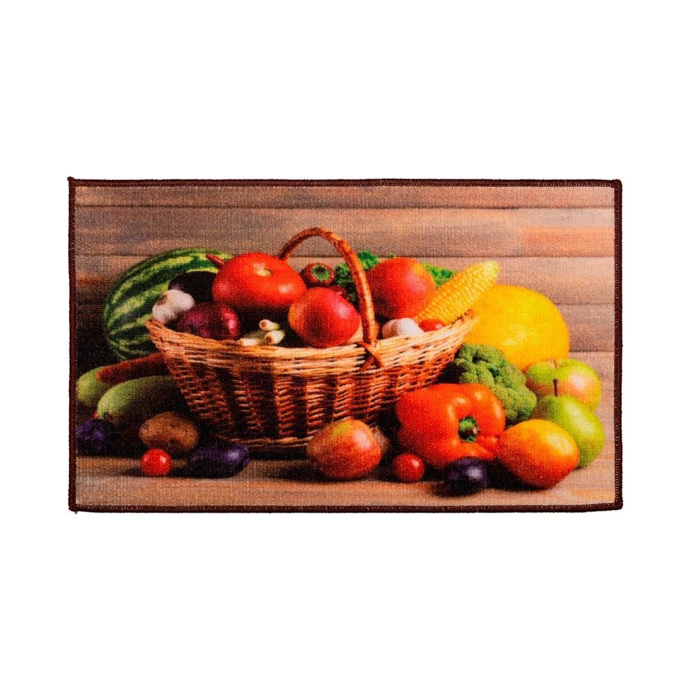 Tapete 45X75cm Veneza Para Cozinha Havan - Cesta de Legumes