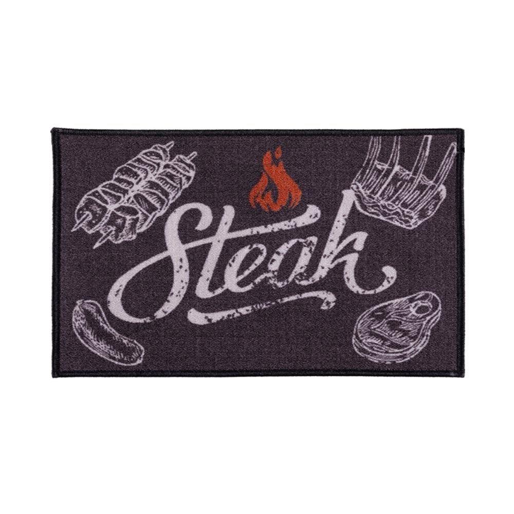 Tapete Napoli 50X70cm Antiderrapante Para Cozinha - Steak