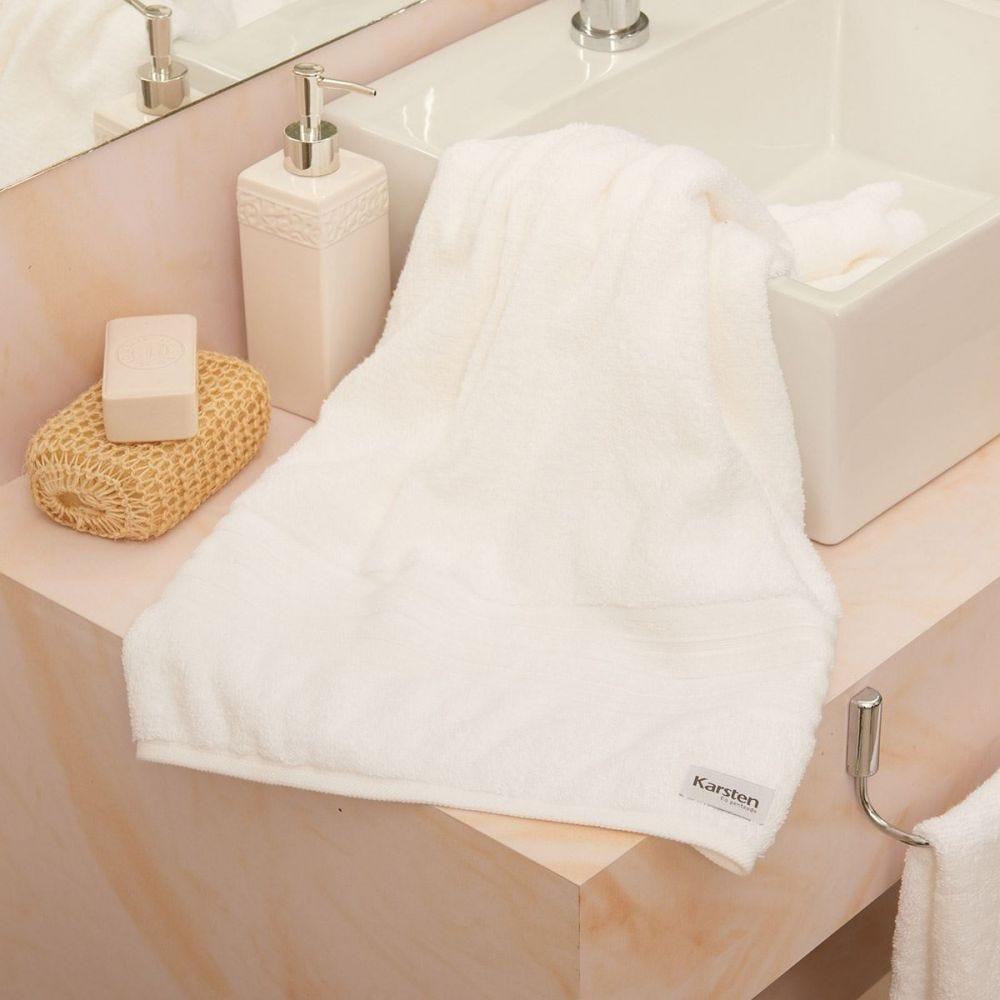 Toalha de Banho Maxy Karsten - Branco