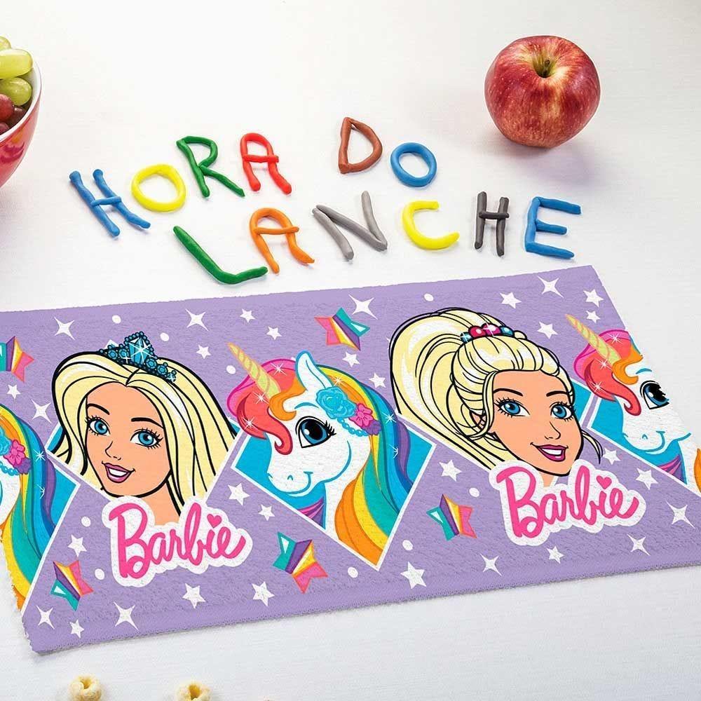 Toalha de Lancheira Personagens Estampada Lepper - Barbie Reinos Magicos