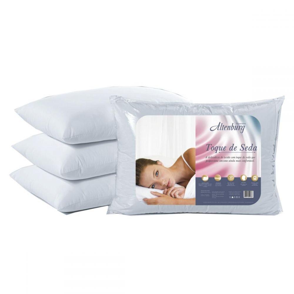 Travesseiro 50X70cm Toque De Seda Altenburg - Branco
